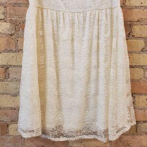 torrid Dresses - Torrid Ivory Lace Babydoll Dress